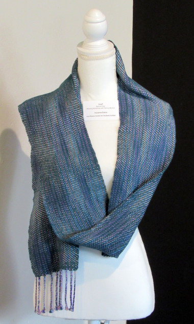 Suzanne Eaton, Scarf, Weaving Workshop with Patricia Morton