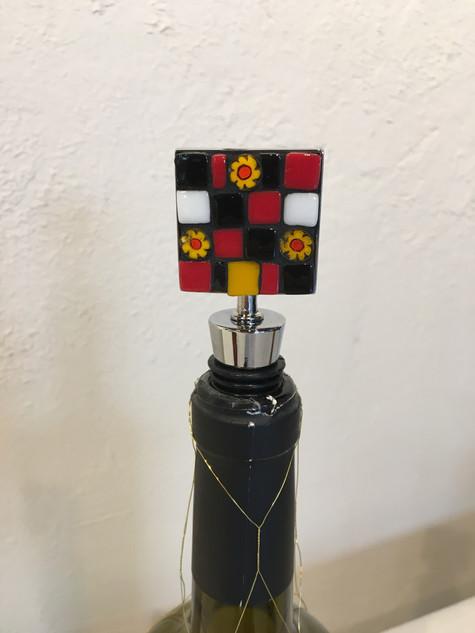 Karen Cavanaugh, Wine Bottle Stopper, Mosaic Jewlery with Dotti Stone