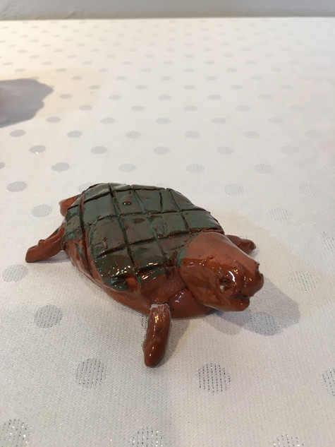 Benjamin Messier, Bruno the Turtle, Mud & Fire Pottery Class with Karen Nuzzo