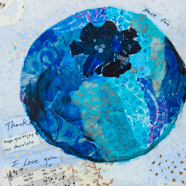 Perri Mason, Blueberry, Torn Paper Workshop with Jane Barefoot Rochelle