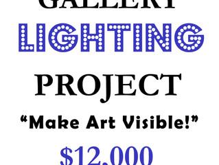 Lighting Upgrade for Sara Braaten Gallery