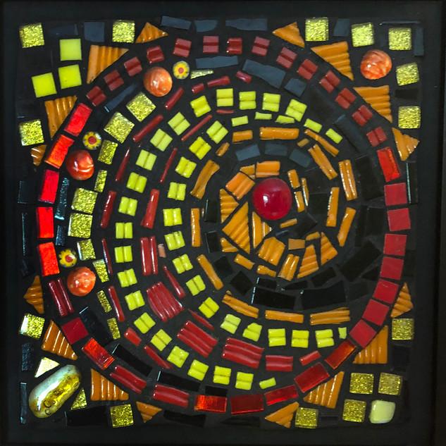 Andrea Wild-Gingeleski, Sunburst, Mosaics Basics with Dotti Stone