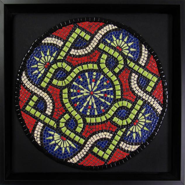 Karen Cavanaugh, North by Northwest, Mosaic Mandala with Dotti Stone