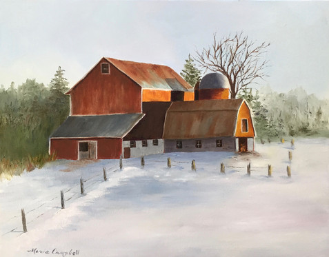 Campbell, Marie_146_Winters Glow_Oil_14x