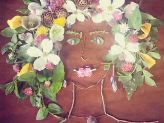 face the foliage: portraits out of leaves and flowers