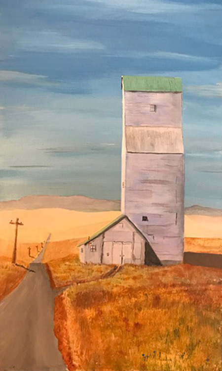 Old Elevator in Montana -Marling