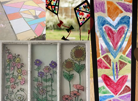 """""""stained glass"""" painting projects for everyone🎨"""