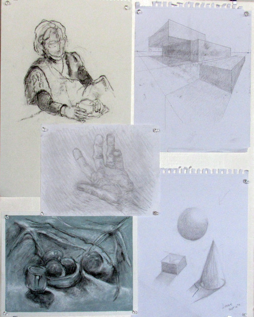 Lennie Richarson, Multiple Sketches, Drawing with Adolfo Jancinto & Suzanne V Paddock