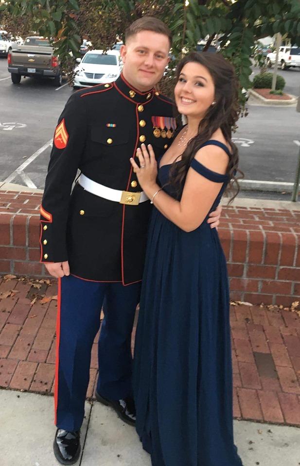 USMC, KC Bradley and wife Amber