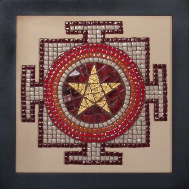 Warren Clark, Star Mandala, Mosaic Mandala with Dotti Stone