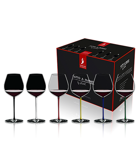 Riedel Fatto A Mano Gift Set Old World Pinot Glasses (Set of 6) 7900/07