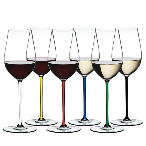 Riedel Fatto A Mano Gift Set Riesling/Zinfandel Glasses (Set of 6) 7900/15