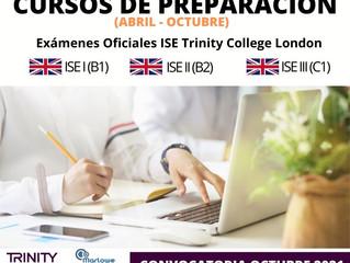 ¡Nuevos grupos! - CURSO PREPARACIÓN ISE TRINITY