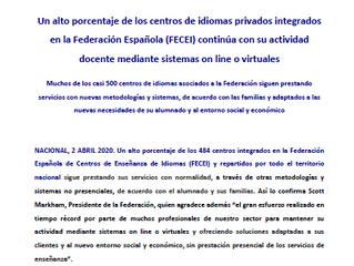 Nota de prensa FECEI (02/04/2020)