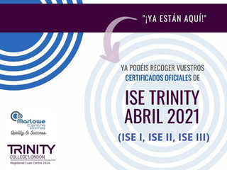 DISPONIBLES CERTIFICADOS OFICIALES DE ISE TRINITY - ABRIL 2021