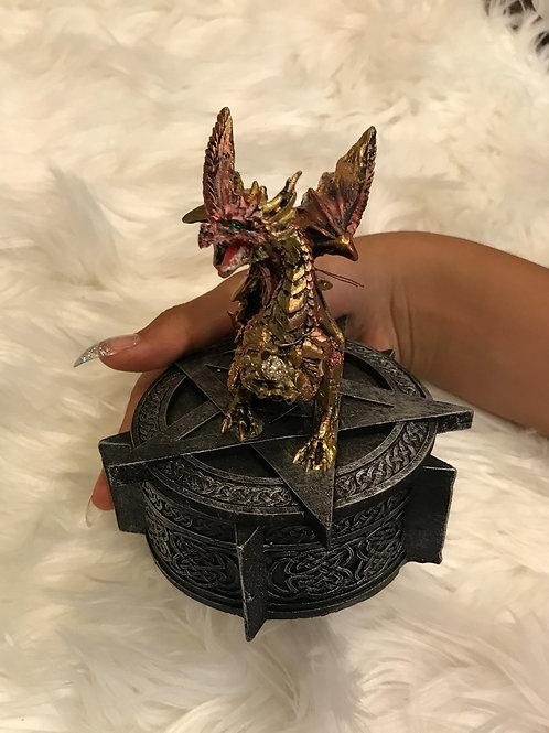 Purple Dragon Pentagram Box