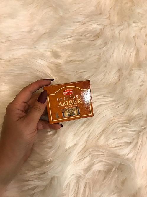 Hem Cone Incense - Amber