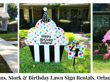 Orlando, FL Stork & Birthday Yard Sign Rentals