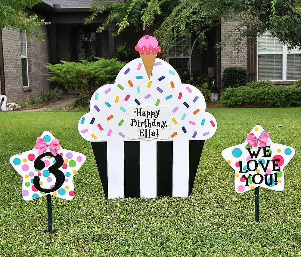 Destin Birthday Lawn Sign Rental