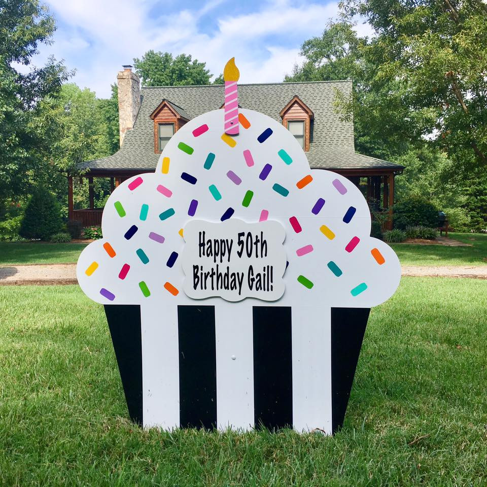 50th Birthday Lawn Sign Rental - Khloe's Storks