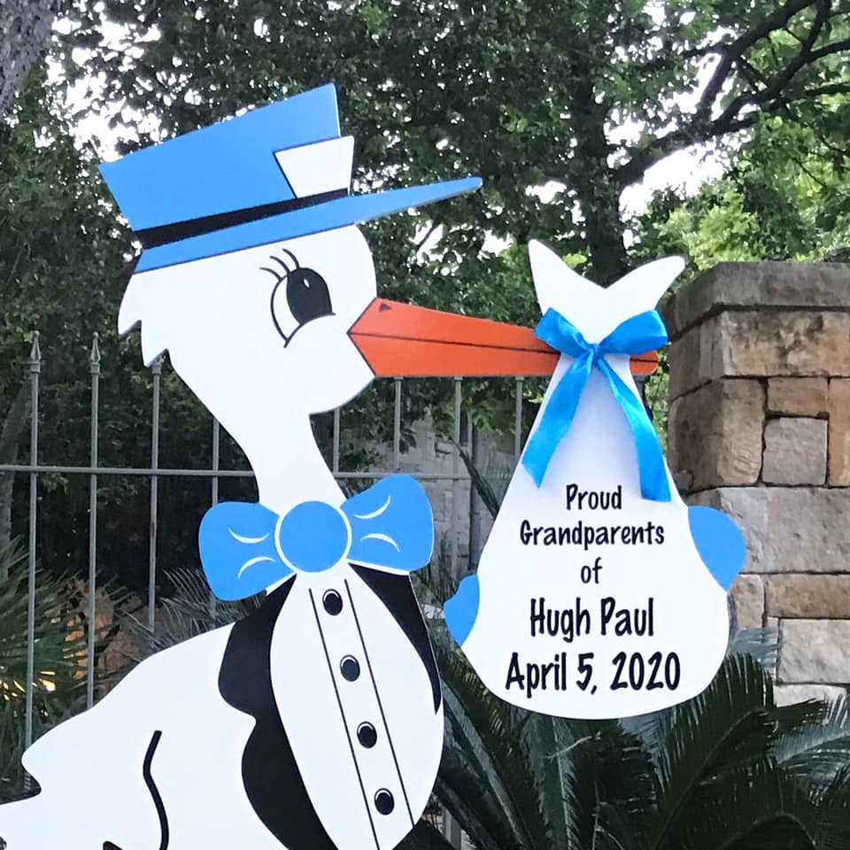 Grandparent Stork Sign Rental from Baton Rouge Stork and Birthday Signs