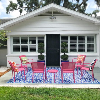 A patio with tropical punch!  Flamingo Bungalow. DeLand, FL