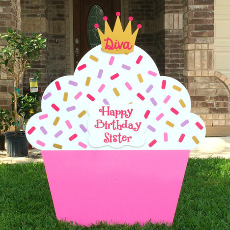 Pink Perfection Cupcake, Diva Crown topper