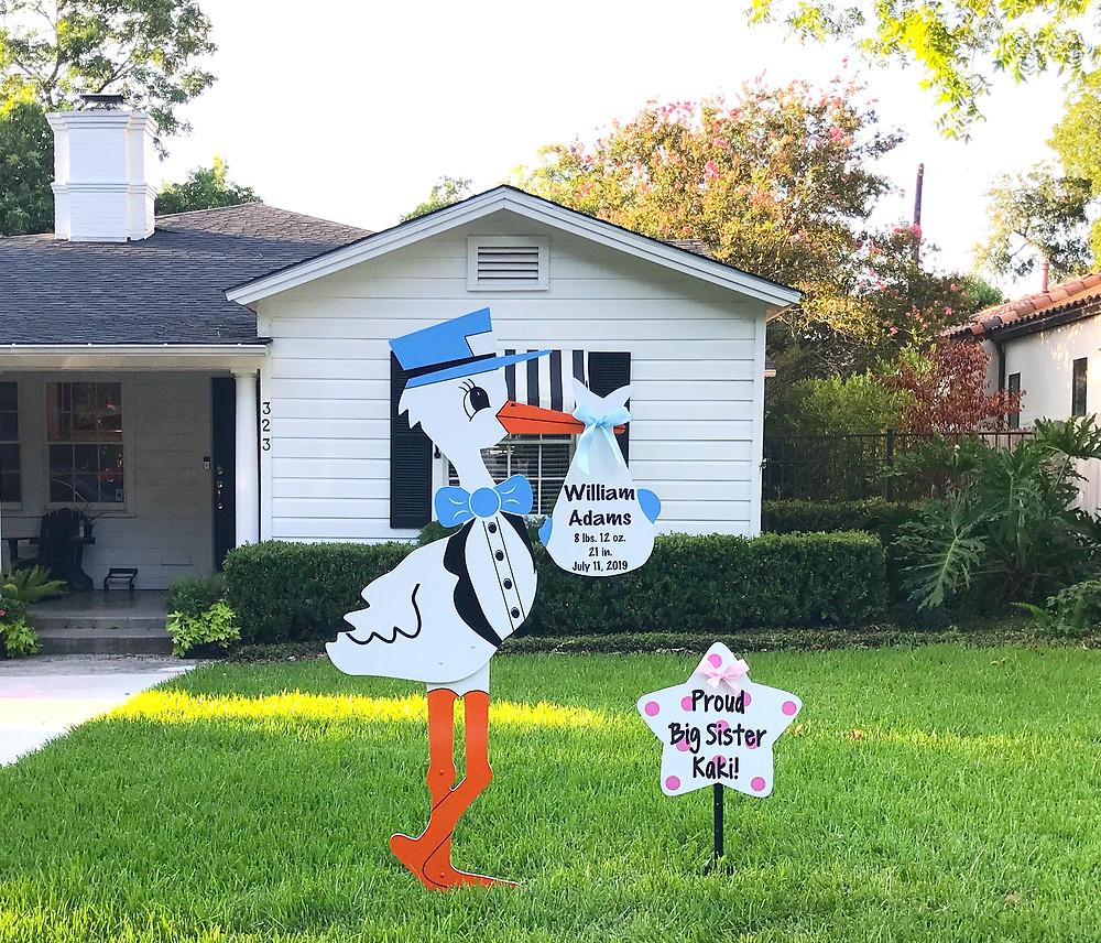 Stork Yard Sign