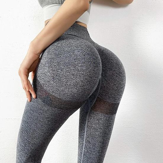 Dark Gray Seamless High Waisted Pants