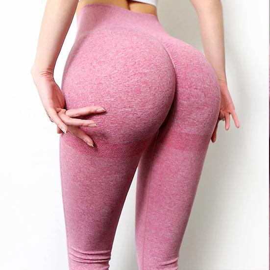 Deep Pink Seamless High Waisted Pants