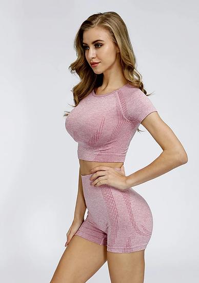 Pink Shorts + Top Set