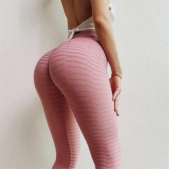 Pink Pattern Push Up Leggings