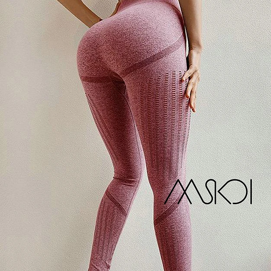 Seamless Leggings With Cutouts