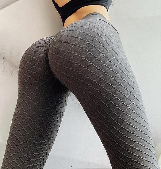 Gray Wavy Pattern Leggings