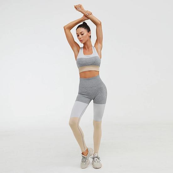 Sand Top + Leggings Workout Set