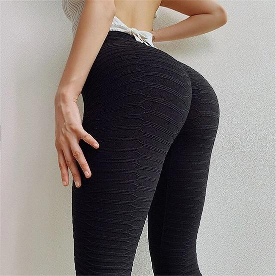 Black Pattern Push Up Leggings