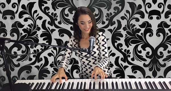 Piano Bar Demp Photo Black & White Aug 1