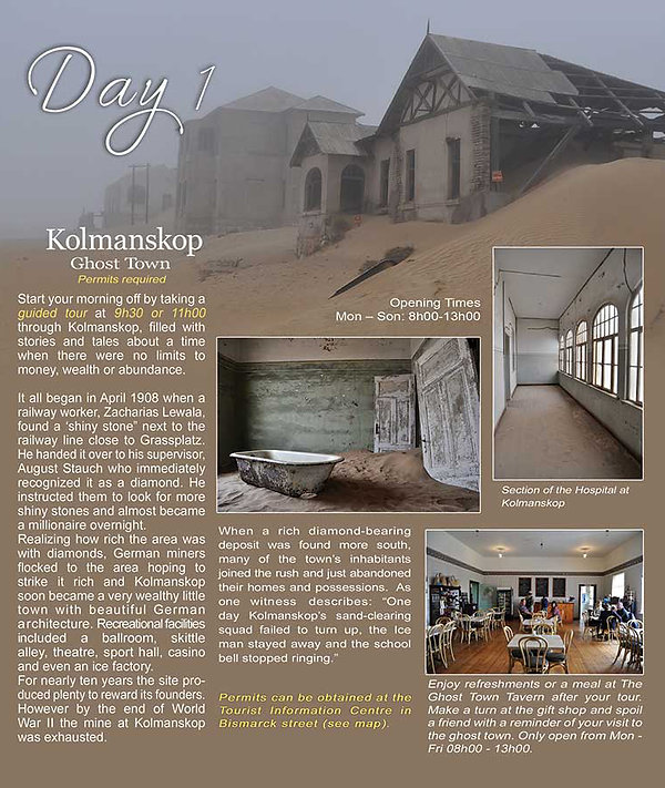 Kolmanskop Ghost Town | Accomodation Luderitz | Obelix Guesthouse | Things to do