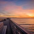 M.B. Miller County Pier at sunset