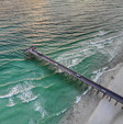 M.B. Miller County Pier from above