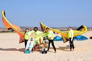 Group Photo with Kitesurf Clients