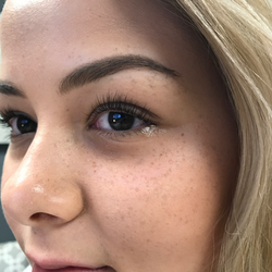 Eyebrow shaping and lash extension