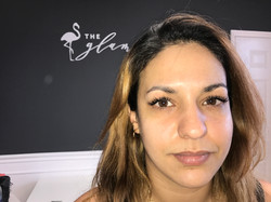 lash extension brunette