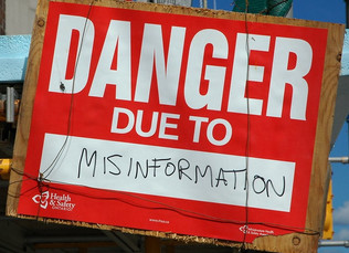 Avoid misinformation: Check it first