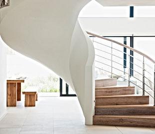 Weiß Holzstiege