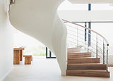White Wooden Staircase
