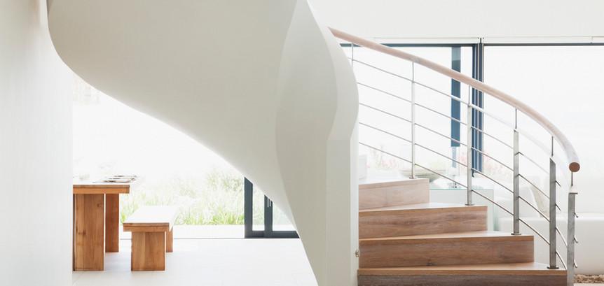 White Wooden Staircase