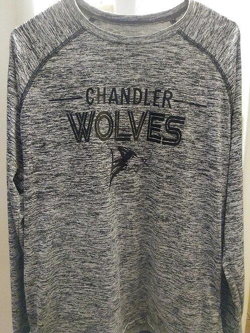 Long Sleeve T-Shirt - Grey with Logo