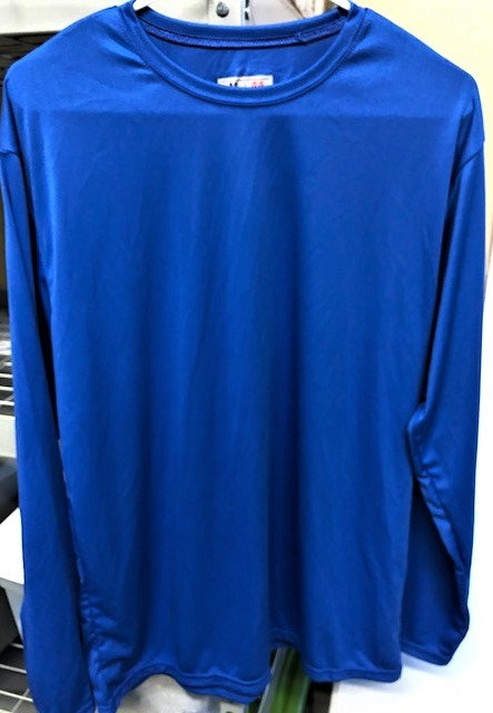 Long Sleeve, Chandler Blue, Dry Fit