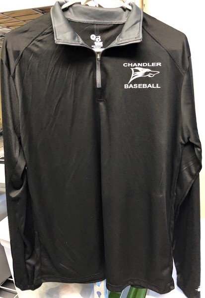 Quarter-Zip, Grey Dry Fit Pull-Over with Logo